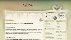 'Note Paper' layout from BTemplates #blogspot #blogger