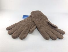 100/% Alpaca Wool Knit Gloves Pink Large ~ Women Men Accessories