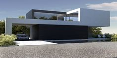 Dom nad jeziorem / The lake house on Behance - Architecture Modern Architecture Design, Minimalist Architecture, Residential Architecture, Modern House Design, Interior Architecture, Home Design, Modern Exterior, Exterior Design, Villa Design