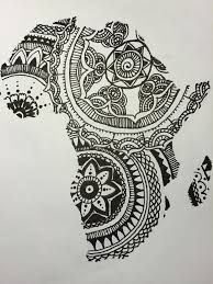 Image result for african continent mehndi tattoo