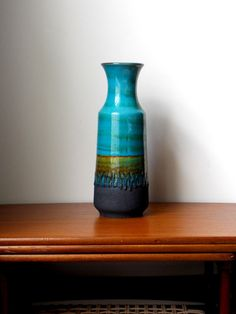Fat Lava Vase 12 West German Pottery Ceramic by MidCenturyFLA, $285.00