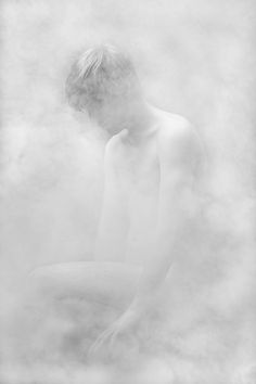 Intriguing Figures Emerge From Hazy White Smoke by Alex Wein