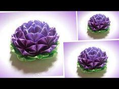 "Цветы из лент 2,5 см, лепесток ""сердечко"", канзаши, МК - YouTube"
