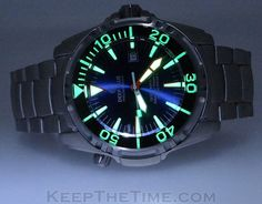 Deep Blue Depthmaster 3000m Sapphire Bezel Dive Watch from KeepTheTime.com