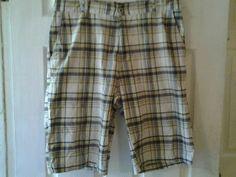 Men's Plaid Shorts, Size 34, Used