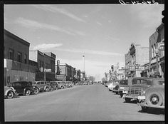 Main street, Laramie, Wyoming 1940...nice that it's almost the same in 2014!