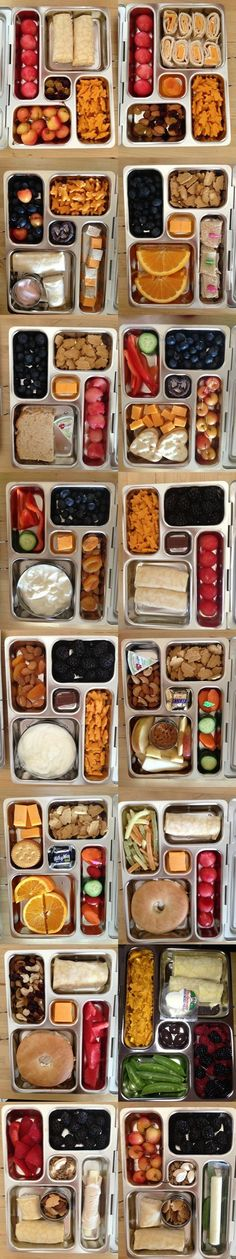 Healthy packed lunch ideas for kid's lunch boxes. Healthy Packed Lunches, Lunch Snacks, Healthy Snacks, Healthy Eating, Healthy Recipes, Free Recipes, Diy Snacks, Clean Eating, Toddler Meals