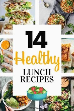Healthy lunch recipes to power through the day - iwia food I am sharing healthy lunch recipes you can cook at home for your family or take to work which are healthy yet super delicious. These recipes are also great if you are looking for healthy lunch recipes for weight loss which are easy and simple! Healthy lunch recipes for work... Althy lunch recipes clean eating.<br> I am sharing healthy lunch recipes you can cook at home for your family or take to work which are healthy yet super… Healthy Recipes On A Budget, Healthy Recipes For Weight Loss, Healthy Eating Recipes, Healthy Spring Rolls, Healthy Tuna, Clean Eating, Brunch Recipes, Easy Meals, Cook