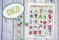 Free, Printable Christmas Bingo Cards for a Family Fun Night: Free Christmas Bingo Cards from One Creative Mommy