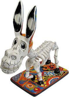 Talavera Day of the Dead Donkey