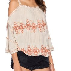 Free People new world embroidered crop top dune Free People new world embroidered crop top dune color size Xs new with tags Free People Tops Crop Tops