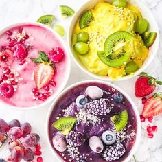 Blackberry, raspberries or mango, which would you pick? Let the lovely Celia @theveganwanderess know which one of her gorgeous smoothie bowls you want over on her feed. I don't know which I would pick . Celia makes so many colourful and creative dishes like these healthy treats. You can find all the details on these bowls and so many other treats over on her page @theveganwanderess Hope everyone is having a fantastic weekend xo Lauren #sharethelove . . #letscookvegan #smoothiebowl #veg