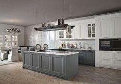Minacciolo, cucina classica, cucina elegante, cucina bianca in legno, cucina stile inglese, collezione English Mood, cucina componibile