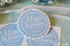 Hugs and Kisses Thank You Jar - with a free printable tag Kisses Candy, Thank You Printable, Free Printable Tags, Free Baby Shower Printables, Free Printables, Hershey Hugs, Employee Appreciation Gifts, Valentine Activities, Souvenir