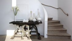 7 Different Ways to Incorporate Stone & Porcelain Into Your Space | Rue Oasis, Elle Decor, House Tours, Modern Farmhouse, Family Room, Living Spaces, New Homes, Dining Table, Contemporary