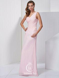 #pink v-neck #long #prom dress