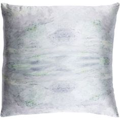 Kalos Gray and Purple 20-Inch Pillow with Down Fill