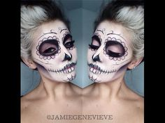 Sugar Skull Makeup Tutorial // Jamie Genevieve - YouTube
