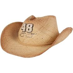 Fantastic NASCAR Chase Authentics Jimmie Johnson Womens Straw Cowboy Hat