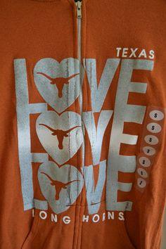 Very Cute women's University of Texas Longhorns Hooded Sweatshirt (Hoody)