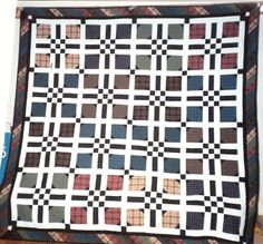 Plaid Quilt...this would be awesome in flannel for a Boat Quilt for the guys....