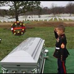 Saying goodbye to his daddy. God bless our troops and their loved ones.