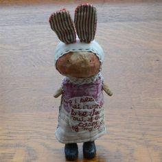 Folk Art: I See What I Want Rabbit - Selvedge