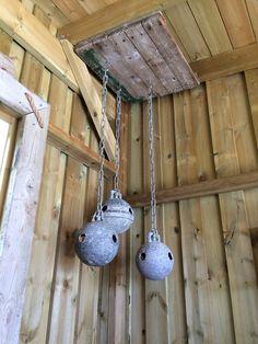 Drivved/driftwood gamle garnkuler lamper/lykt for stearinlys.