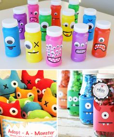 Cute and inexpensive monster themed party favors. Little Monster Birthday, Monster 1st Birthdays, Monster Birthday Parties, Boys First Birthday Party Ideas, Baby 1st Birthday, Birthday Party Themes, Monster Birthday Invitations, Little Monster Party, Monster Inc Party