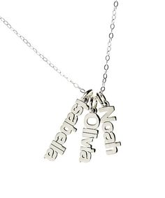 b48f7d79cb20 AJs Collection Sterling Silver Personalized Nameplate Pendant Necklace
