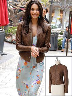 GÉNESIS RODRÍGUEZ    Copia el look de la actriz con esta chaqueta de la marca Apt. 9, ahora rebajada a $50.40 en Kohls.com.