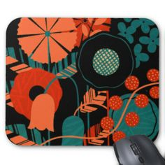 Abstract flower Mousepad #vintage #flowers #retro