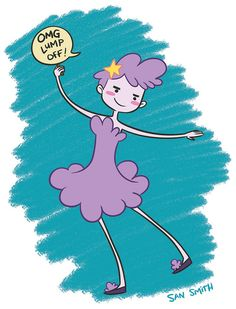 Lumpy Space Princess as a girl by San Smith, via Flickr