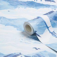 K2 Lighthouse Blue Nautical Wallpaper   Departments   DIY at B&Q