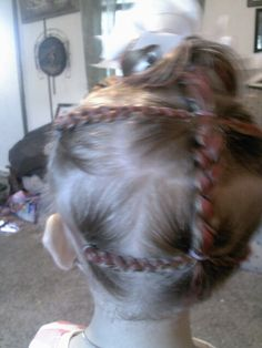 Pink braids