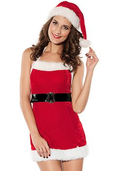 Sexy Santa Mini Christmas Lingerie Costume