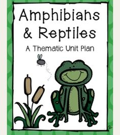 Amphibians and reptiles unit: check out my amphibians and reptiles unit plan. Filled with science, math and literacy activities for early learned. Available on TPT for $4.00
