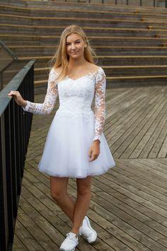 Billedresultat for konfirmationskjoler Tulle Prom Dress, Homecoming Dresses, Party Dress, Cute Dresses, Short Dresses, Formal Dresses, White Dresses For Teens, Short Wedding Dresses, Robes De Confirmation