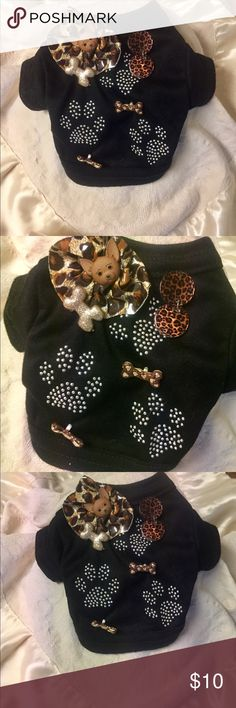 XXS- puppy Tee shirt! Beautiful Designs by Lilyk This tee for your little pup is A Fashionista Statement! Unique design elements ! LilyK Other