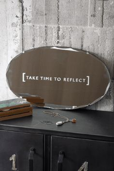 This mirror is totally unique! The mirror is vintage and features a beautiful bevelled edging. The mirror is old giving it real charm. The etched mirror measures 55cm wide x 33cm high and has a fixing on the back for easy hanging.