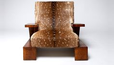 Jean-Michel Frank created this armchair out of a doe (female deer) and varnished oak. Although many people would be grossed out by the idea of sitting in this chair essentially upholstered from the skin on a deers back, I can appreciate the beatiful pattern and textured look. This, tied together with the oak makes the armchair very pleasing to the eye.
