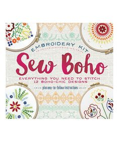 Take a look at this Sew Boho Embroidery Kit today!
