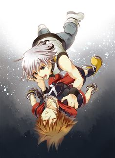 It's hard to find good art from Dream Drop, but this is fantastic! Worried Riku=Cute Riku