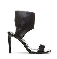 Steve Madden x The Blond Salade TDALLAS Black Leather Heel