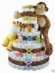 Bolo-de-Fraldas-usrso-de-pelucia-chupetas-urso-azul-enxoval-menino-menina-ideias-criativas-para-chá-de-bebe-bb-shampo-infantil-tema-safari.jpg (570×760)