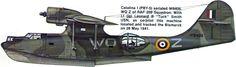 """Consolidated Catalina I ( PBY5 ) Lt jg Leonard B """" Meta """" Smith USNR , copiloto, en seguir al Bismark volando desde Lower Lough Erne , Fermanagh , Irlanda del Norte . Esc 209 comando costero RAF En entrevistas de radio como oficial RCAF, para ocultar que era un Norte americano con la RAF mientras que los Estados Unidos todavía oficial mente neutral. Militares y contratistas civiles ya estaban en Ulster prepararando bases para la inevitable participación de E.E.UU en la Segunda Guerra…"""