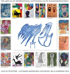 Welcome to a collection of outsider art Outsider Art, Web Gallery, The Outsiders, Presents, Creative, Collection, German, Artists, Website