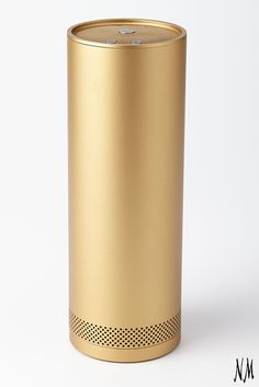 Fashion meets function in this gilded gift for the music maven. Connect the ​​Stelle Audio Golden Pillar Wireless Speaker to any Bluetooth device and experience 360-degree sound for 15 continuous hours between charges.
