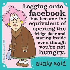 Aunty Acid on GoComics.com #humor #comics #Facebook #SocialMedia