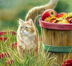 Ах, эти кошки!... Художница Susan Bourdet.. Обсуждение на LiveInternet - Российский Сервис Онлайн-Дневников